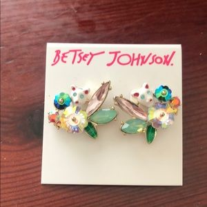 Betsey Johnson Just Kitten New Kitten Earrings